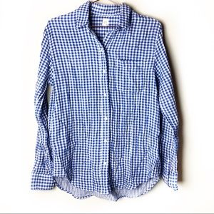 Gap Blue & White Plaid Button Down